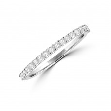 Platinum Castle set Diamond Eternity Ring