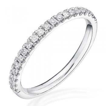18ct White Gold Castle set  Diamond Eternity / Wedding Ring