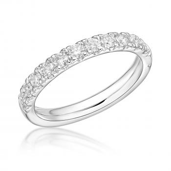 18ct White Gold .50ct Diamond Castle Wedding / Eternity Ring