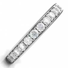 18ct White Gold .63ct Diamond Grain set Eternity/ Wedding Ring