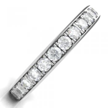 18ct White Gold .63ct Diamond Grain set Eternity/ Wedding Ring