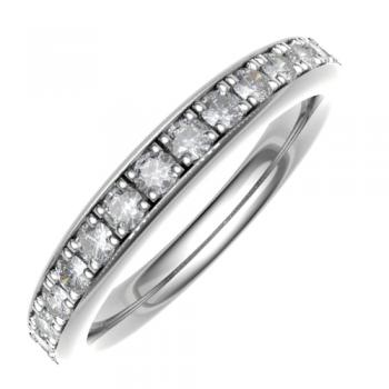 18ct White Gold .32ct Diamond Grain set Eternity/ Wedding Ring