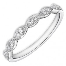 18ct White Gold Diamond Marquise shaped Eternity Ring