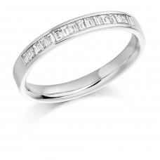 18ct White Gold Baguette Diamond Wedding Ring