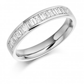 18ct White Gold Baguette Diamond Wedding Ring