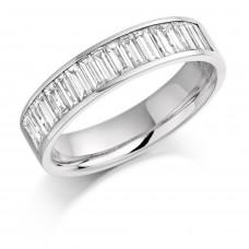 18ct White Gold Baguette Diamond Wedding / Eternity Ring