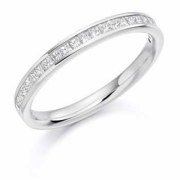 18ct White Gold Princess cut .33ct Diamond Wedding Ring