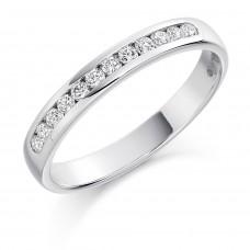 18ct White Gold 12-stone Diamond Wedding Ring