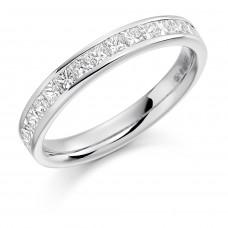 18ct White Gold 16-stone Princess cut Diamond Wedding Ring