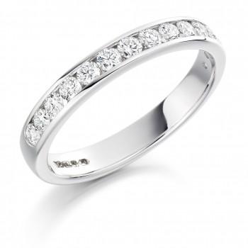 18ct White Gold 14-stone Diamond Wedding Ring
