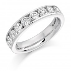 18ct White Gold 12-stone Diamond Eternity Ring