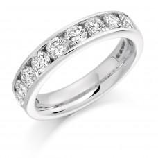 18ct White Gold 12-stone Diamond Eternity Ring