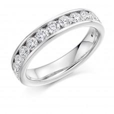 18ct White Gold Diamond Channel set Eternity Ring