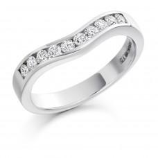 18ct White Gold 10-stone Diamond Bow Shaped Eternity Ring