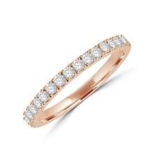 18ct Rose Gold Castle set Diamond Eternity Ring
