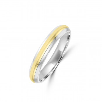 Platinum/18ct Yellow Gold 5mm Wedding Ring