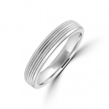 Platinum Lined 4mm Wedding Ring