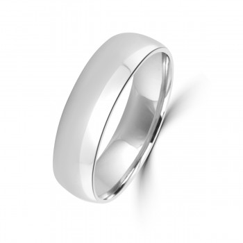 Platinum 6mm Polished Wedding Ring