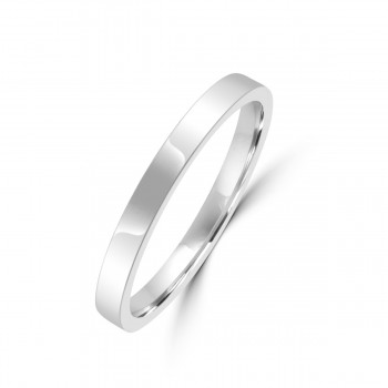 Platinum 2mm Flat Court Wedding Ring