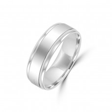 Platinum 6mm Flat Wedding Ring