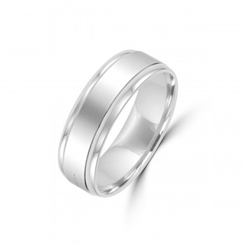 Platinum 6mm Flat Wedding Ring