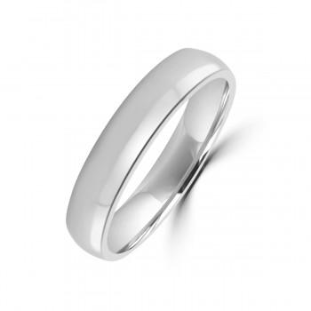 Platinum 4mm Soft Court Wedding Ring