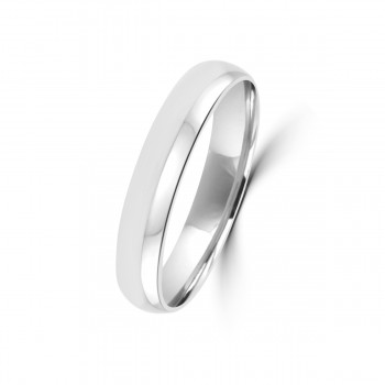 18ct White Gold 4mm Polished Wedding Ring