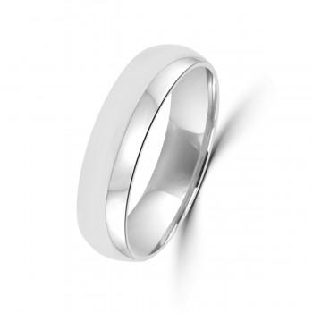 18ct White Gold 5mm Plain Wedding Ring