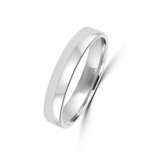 18ct White Gold Plain 4mm Wedding Ring