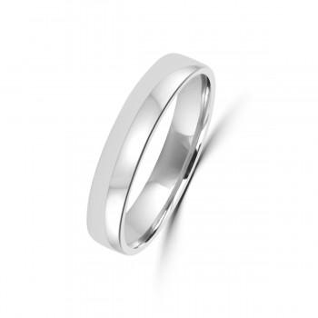 18ct White Gold Plain 4mm Wedding Ring