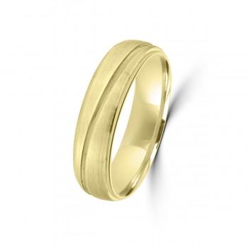 9ct Yellow Gold 6mm Wedding Ring