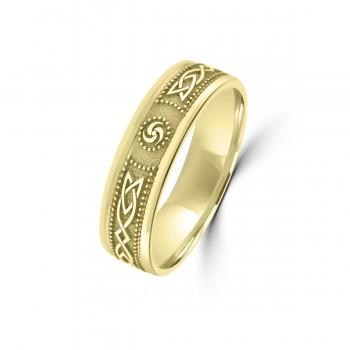 9ct Yellow Gold 6mm Celtic Wedding Ring