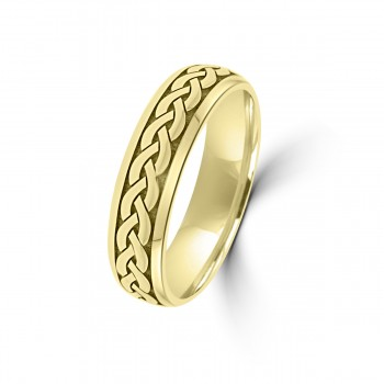 9ct Yellow Gold 6mm Celtic Wedding Ring