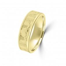 9ct Yellow Gold Claddagh Wedding Ring