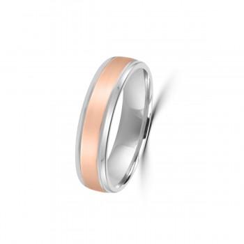 9ct Rose/White Gold 5mm Wedding Ring
