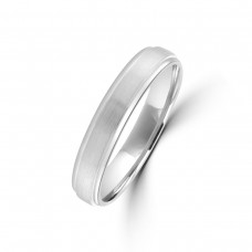9ct White Gold 4mm Plain Wedding Ring