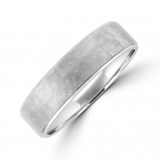 Palladium 6mm Court Brushed Hammered Wedding Ring