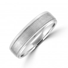 Palladium 6mm Soft Court Polished & Brushed Wedding Ring