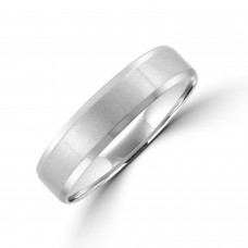 Palladium 5mm Bevelled Edge Wedding Ring