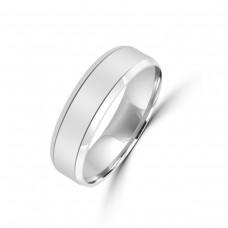 Palladium 950 Lined 6mm Wedding Ring