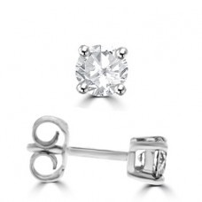 18ct White Gold .70ct Diamond Solitaire Earrings
