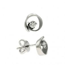 18ct White Gold Cammilli Diamond Stud Earrings