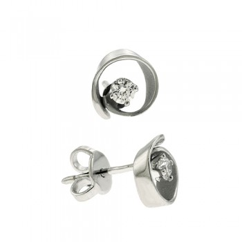 18ct White Gold Cammilli Diamond Stud Earrings