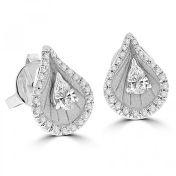 18ct White Gold Diamond Cammilli Stude Earrings