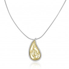 18ct Gold Pear Shaped Diamond Pendant