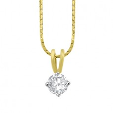 18ct Gold Solitaire .51ct Diamond Pendant