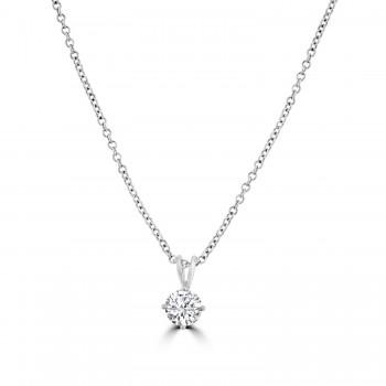 18ct White Gold 1.20ct Diamond Solitaire Pendant