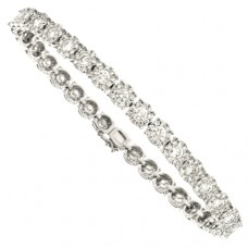 18ct White Gold Diamond Illusion-Tennis Bracelet