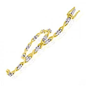 18ct Gold Diamond Kiss Bracelet
