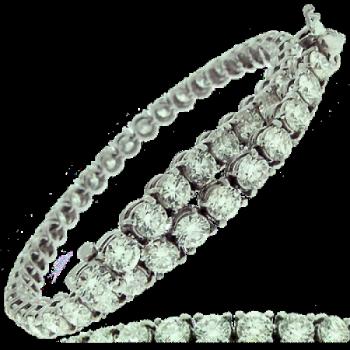 18ct White Gold 4.16ct Diamond Tennis Bracelet